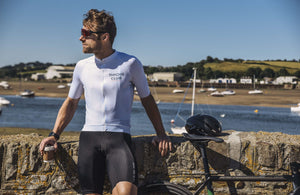 Men's White Cycling Jersey