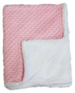 Baby Blanket -  Popcorn Sherpa - Pink(Embroidery Included)