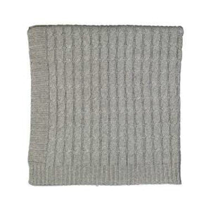 Cable Knit Baby Blanket - Grey