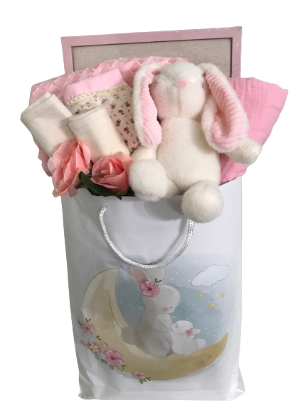 Ivory chenille blanket & bear set