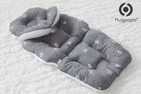 Hugpapa香蕉形頸枕嬰兒車坐墊 (淺灰色)  Hugpapa Banana Neck Cushion Stroller Liner (Light Gray)