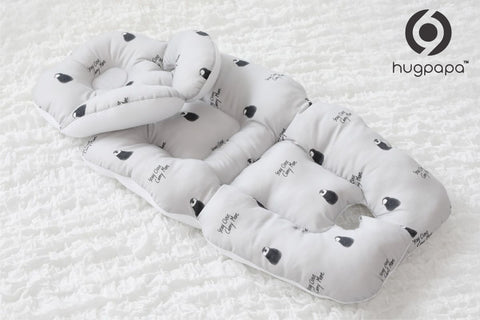 Hugpapa香蕉形頸枕嬰兒車坐墊 (白色) Hugpapa Banana Neck Cushion Stroller Liner (White)