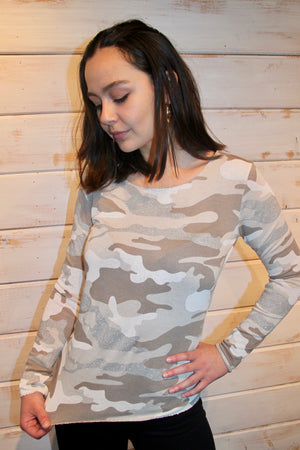 Milani Camouflage Top - BEIGE
