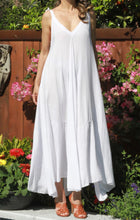 Load image into Gallery viewer, Aqua Shoulder Tie Maxi Dress - The Fabulous Rag