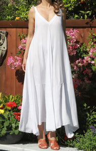 Aqua Shoulder Tie Maxi Dress - The Fabulous Rag