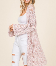 Load image into Gallery viewer, Blush Canopy Pocket Long Cardigan - The Fabulous Rag