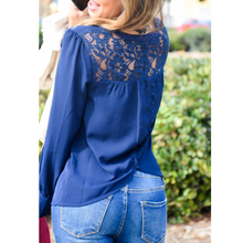Load image into Gallery viewer, Knightly Lace Blouse Top - The Fabulous Rag