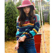Load image into Gallery viewer, Chasing Rainbows Multi Color Long Sleeve Sweater - The Fabulous Rag