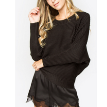 Load image into Gallery viewer, Chancellor Night Oversized Sweater - The Fabulous Rag