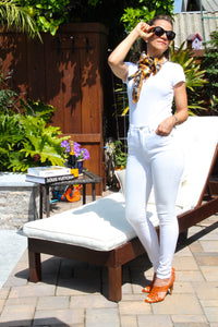 KanCan Brazil High Rise Skinny White Denim - The Fabulous Rag