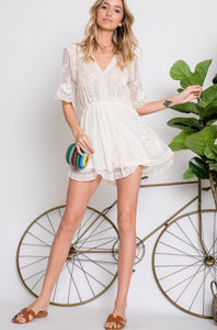 Bay Boho Lace Romper - The Fabulous Rag