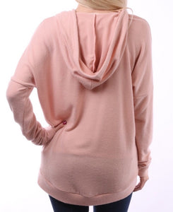 Comfortwear Soprana Hoodie Sweater - Pink - The Fabulous Rag