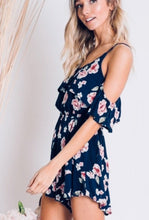Load image into Gallery viewer, Barolo Floral Cold-Shoulder Romper - The Fabulous Rag