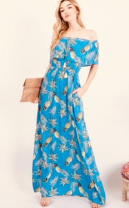 Daylight Pineapple Print Maxi Dress - The Fabulous Rag