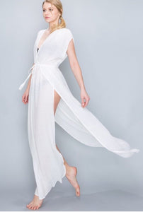 Beach Ready Tie Front Maxi Dress - The Fabulous Rag