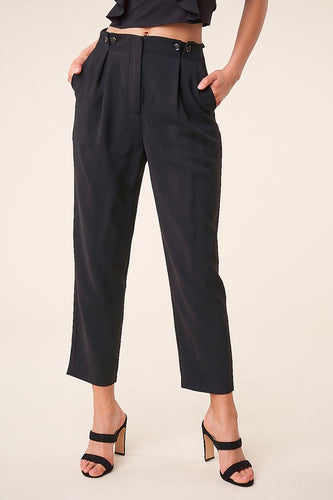 Pescara Pleated Trousers Pants - The Fabulous Rag