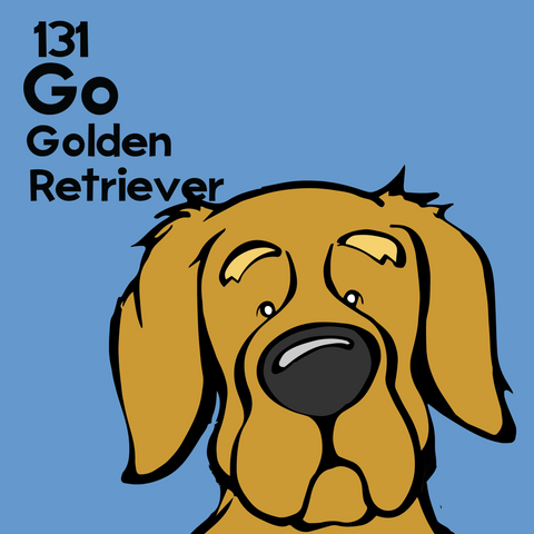 Golden Retriever - Unframed 12x12 Print