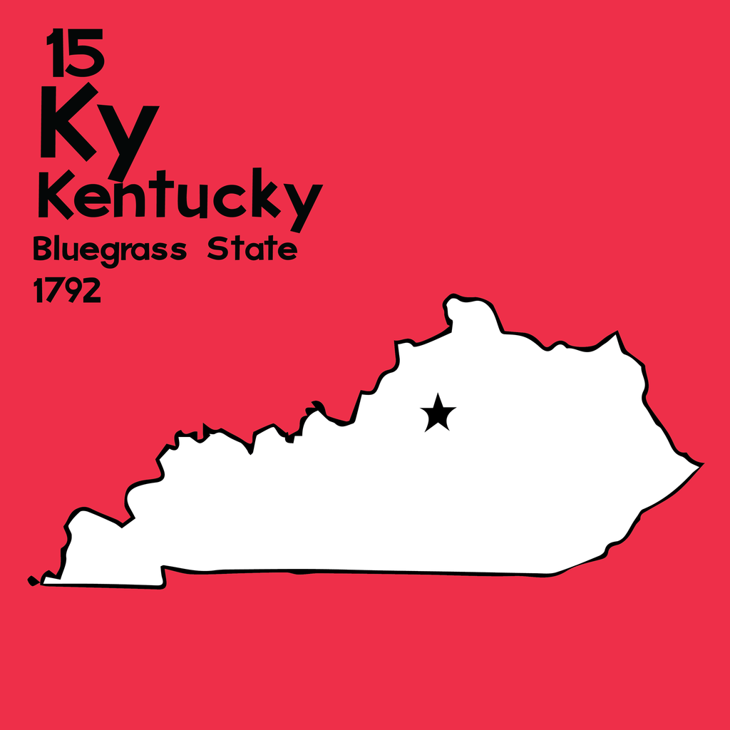 Kentucky - Unframed 12x12 Print