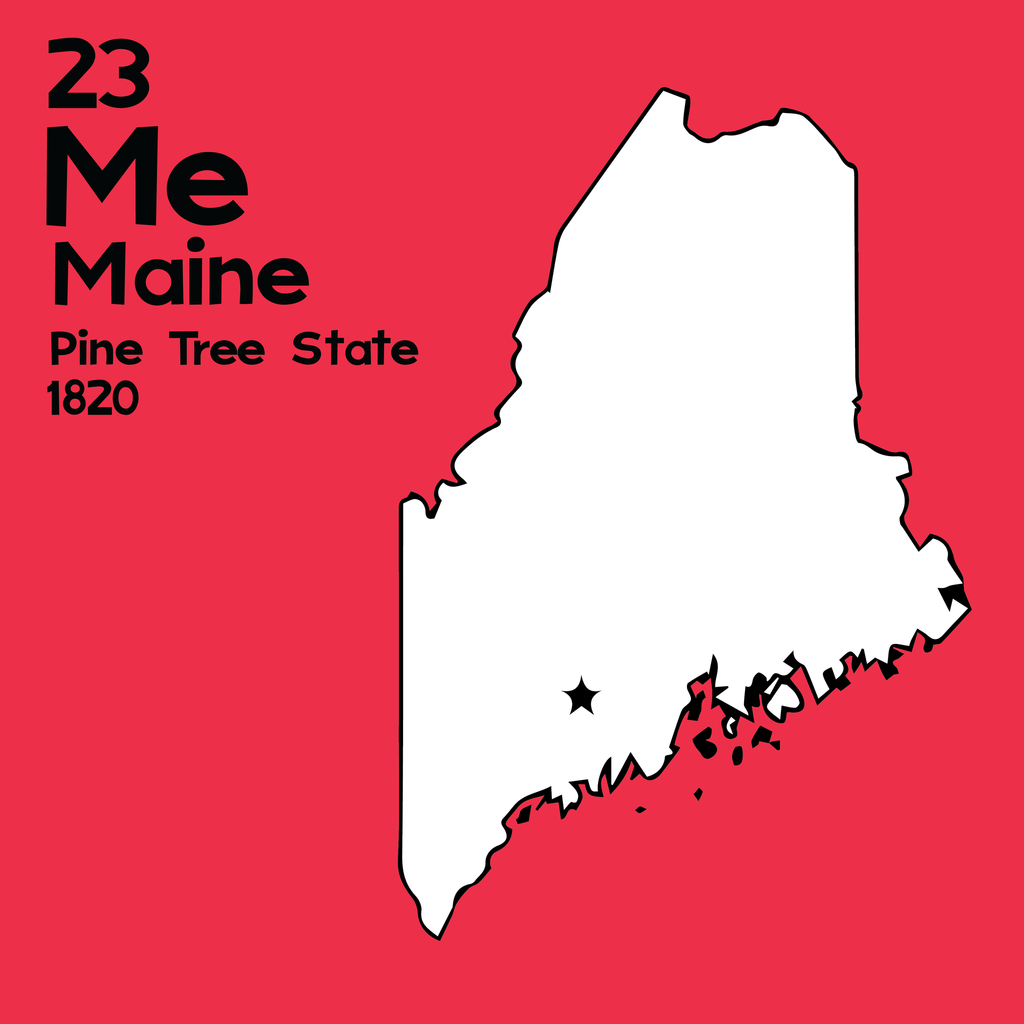 Maine - Unframed 12x12 Print