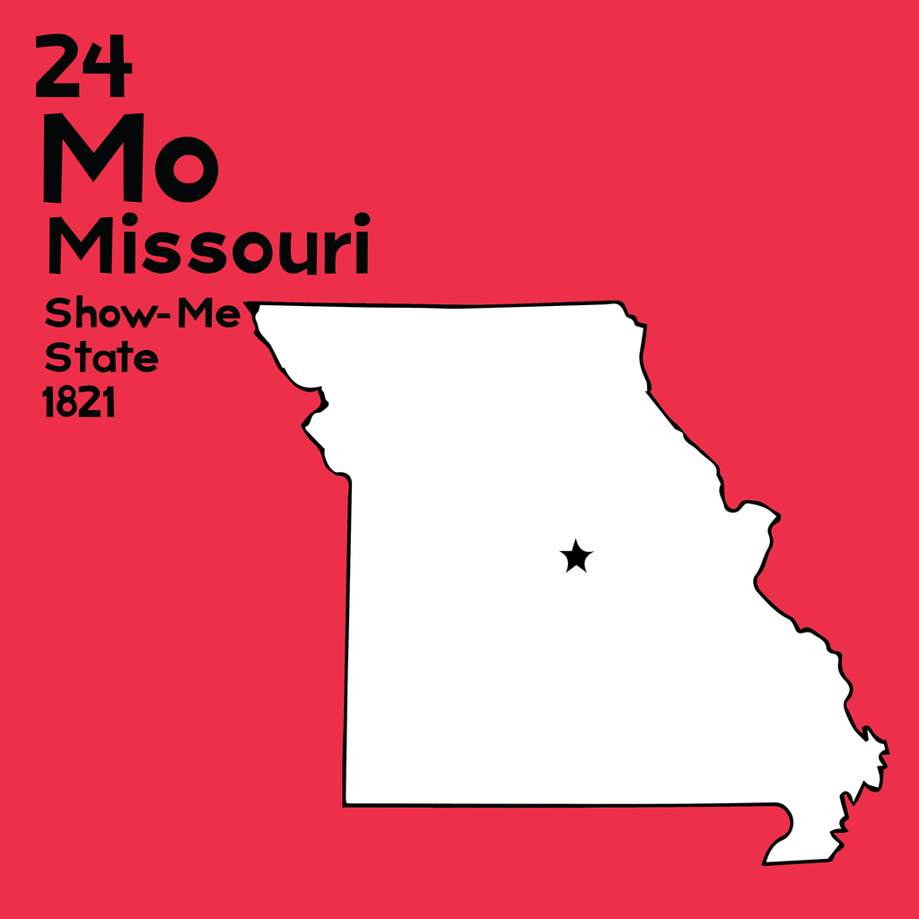Missouri - Unframed 12x12 Print