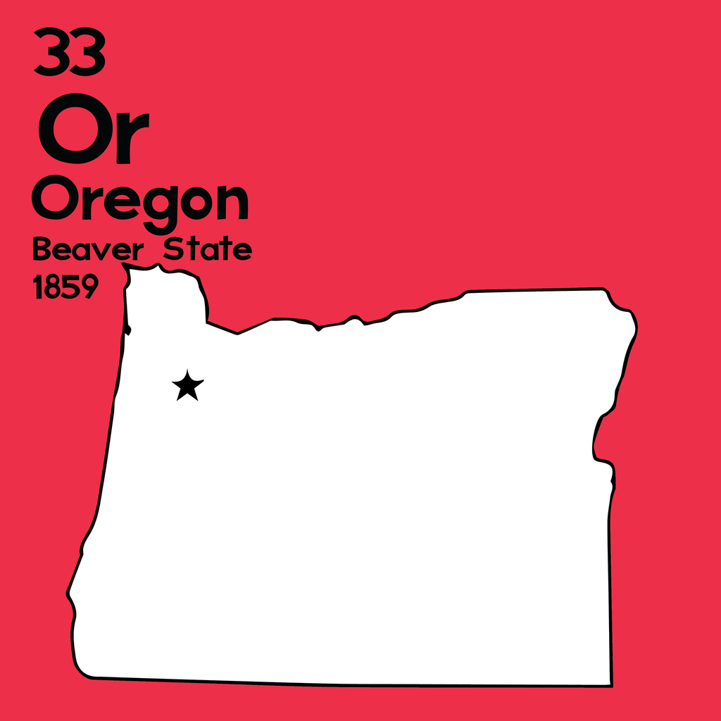 Oregon - Unframed 12x12 Print