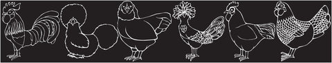 """The Chickens on Parade"" Decal"