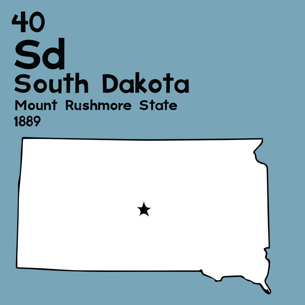 South Dakota - Unframed 12x12 Print