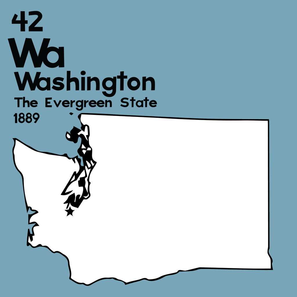 Washington - Unframed 12x12 Print