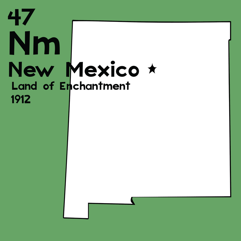 New Mexico - Unframed 12x12 Print