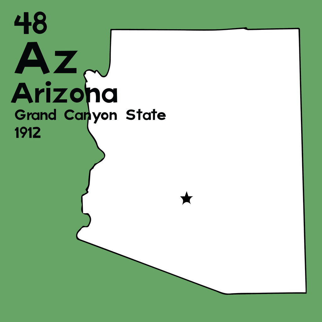 Arizona - Unframed 12x12 Print