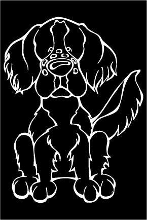 Irish Red White Setter Decal Dog
