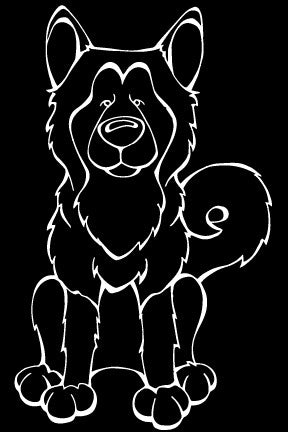 Alaskan Malamute Decal Dog