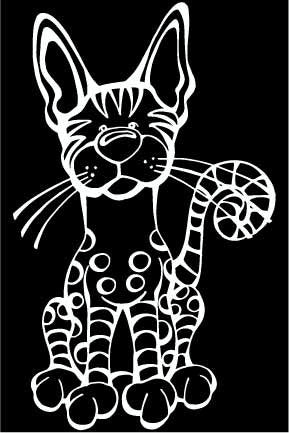 Egyptian Mau Decal