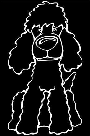 Irish Water Spaniel Decal Dog