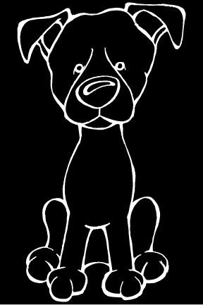 Patterdale Terrier Decal Dog