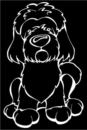 Tibetan Terrier Full Body Decal
