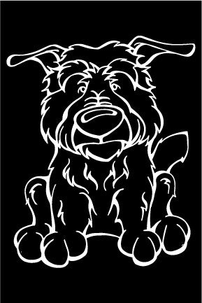 Glen Of Imal Terrier Decal Dog Angry Squirrel Studio