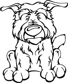 Glen Of Imal Terrier Decal Dog