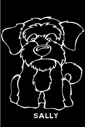 Llhasa Apso Decal Dog
