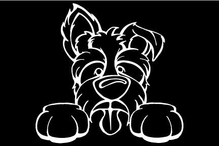 Tugger Paws Decal Dog