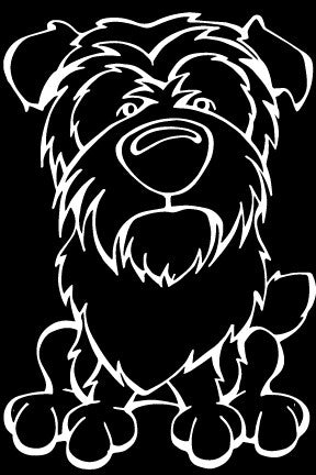 Affenpinscher Decal Dog