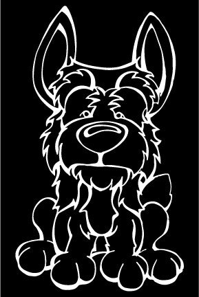 Australian Terrier Decal Dog