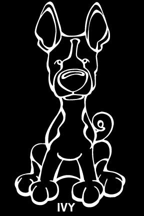 Basenji Decal Dog