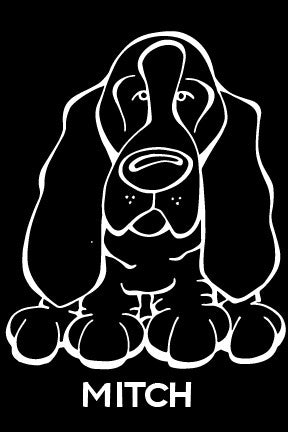 Basset Hound Decal Dog