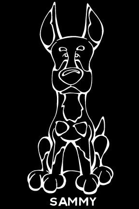 Beauceron Decal Dog