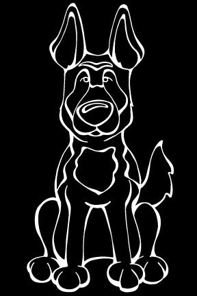 Belgian Malinois Decal Dog