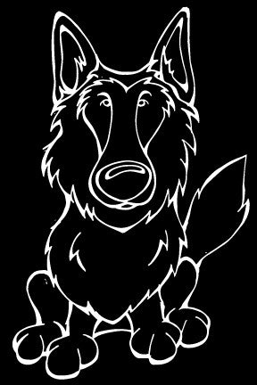 Belgian Sheepdog Decal Dog