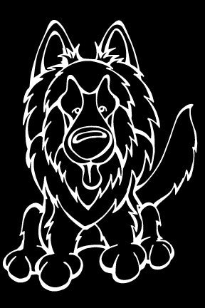 Belgian Tervuren Decal Dog