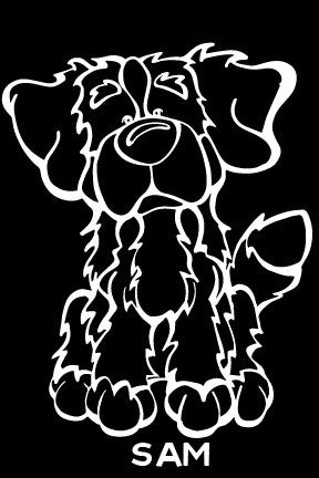 Bernese Mountain Dog Decal Dog