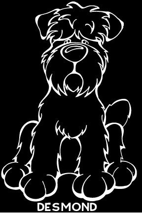 Black Russian Terrier Decal Dog